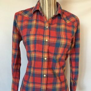 American Eagle Button Up Shirt, Plaid, Size Small